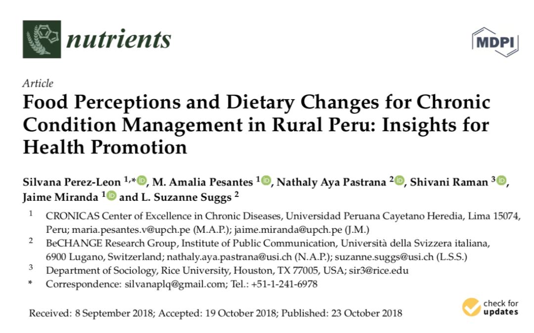 COHESION publication: Nutrients