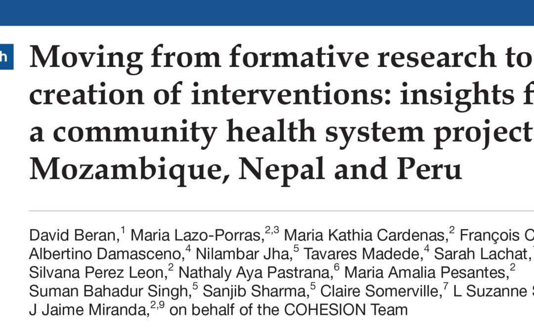 COHESION Publication: BMJ Global Health