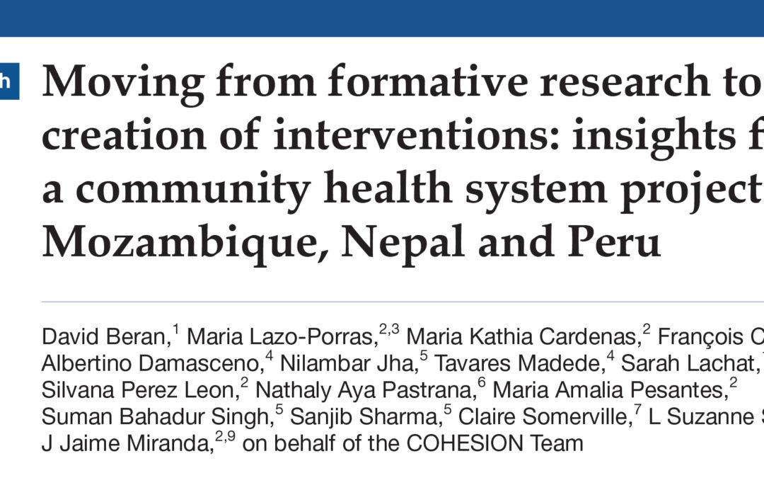 COHESION Publication: BMJ Global Health