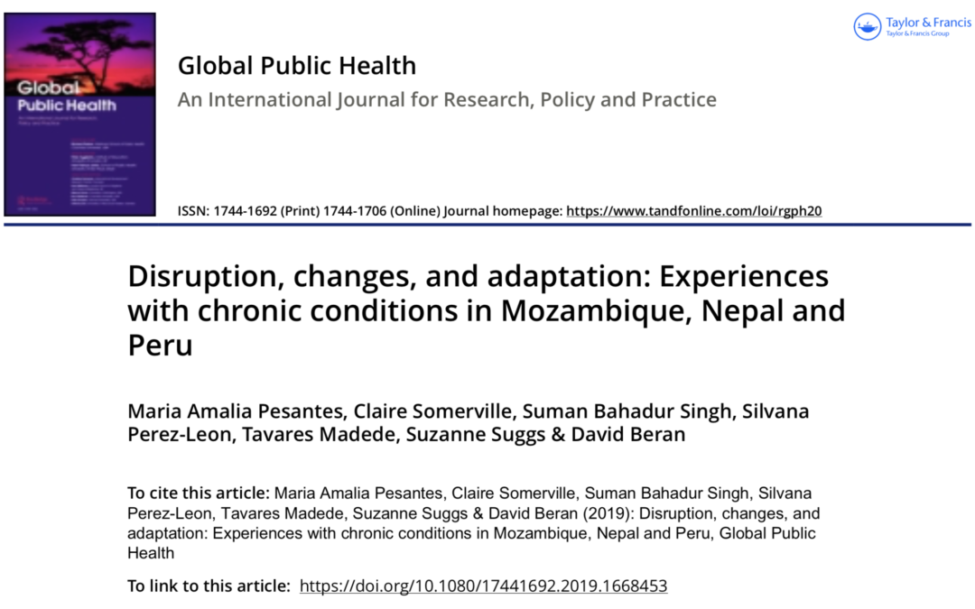 COHESION Project Publication: Global Public Health