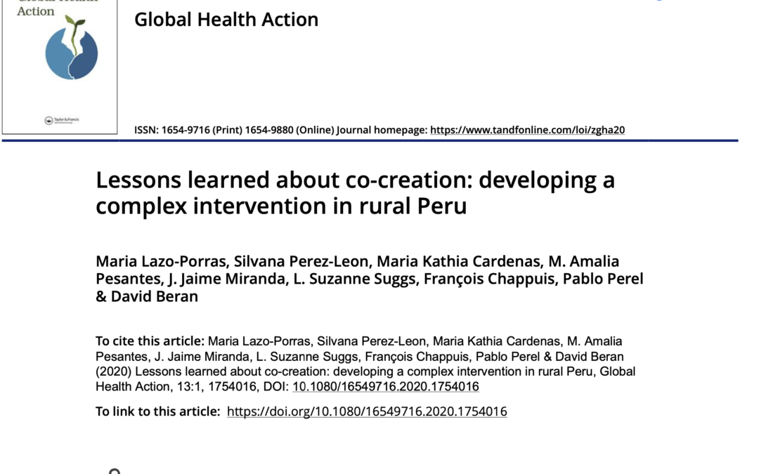 COHESION Publication: Global Health Action