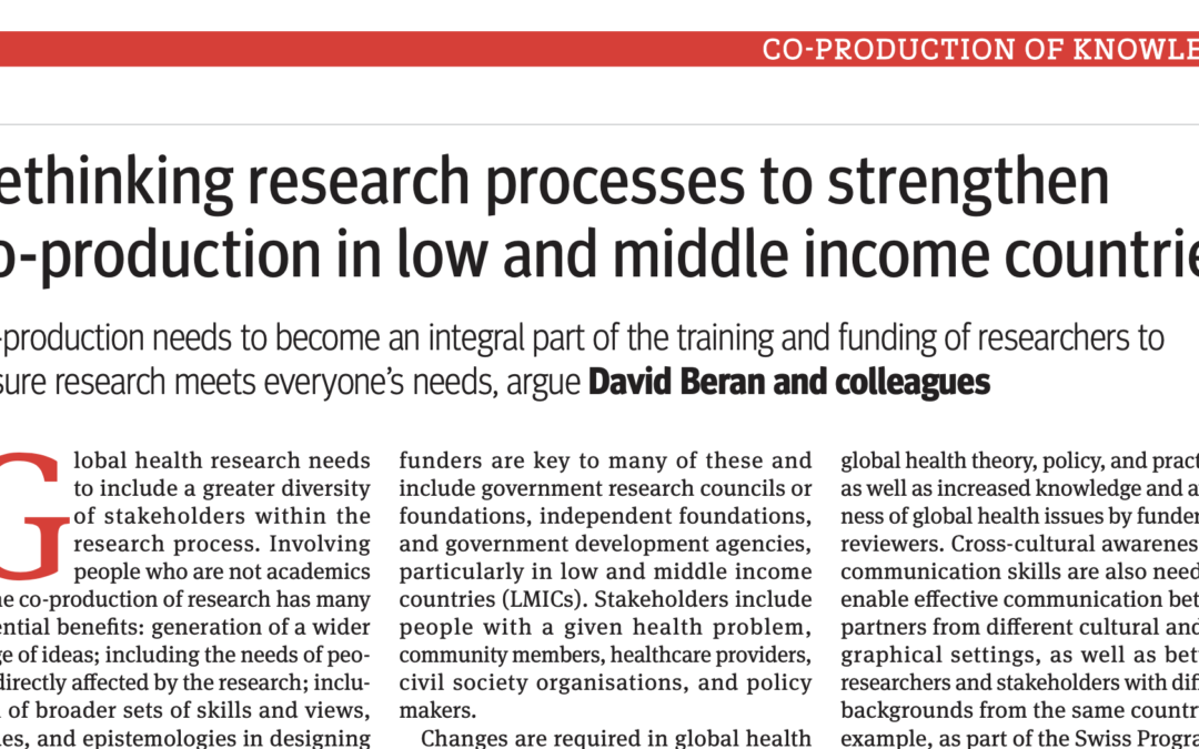 COHESION Publication: The BMJ
