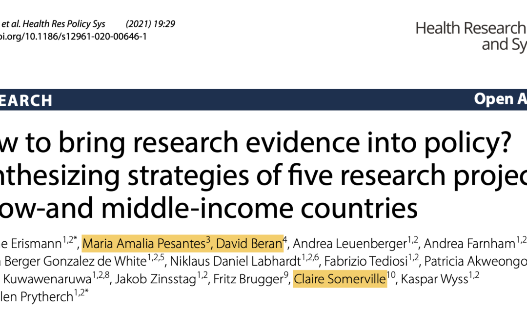 r4d publication: Health Research Policy and Systems